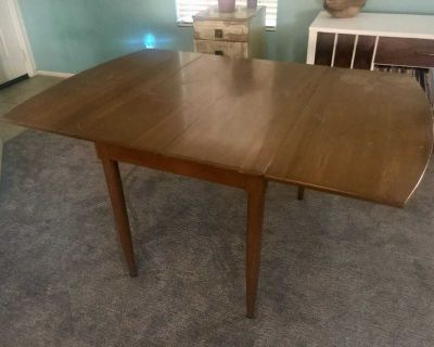 Vintage 50s Willett Solid Cherry Dining Table mid century