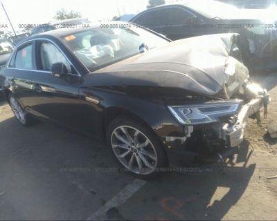 Salvage Black 2019 Audi A4