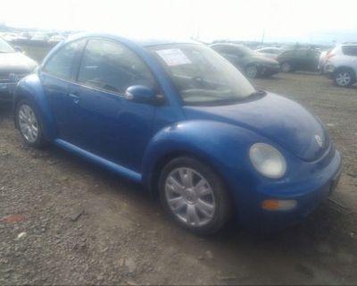 Salvage Blue 2003 Volkswagen New Beetle Coupe