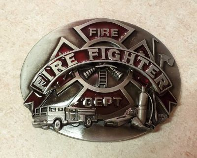 """New firefighter belt buckle approximately 4"""""""