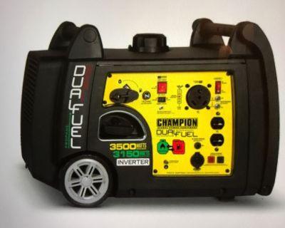 Champion 3500 Watt Duel Fuel Portable inverter Generator