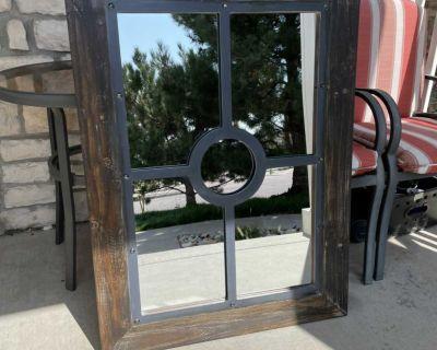 38 Wooden Frame Mirror