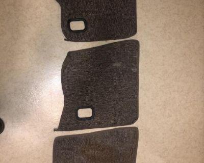 Original NOS 61 and up kick panel carpet -right