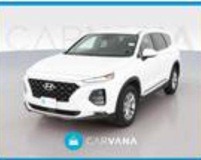 2020 Hyundai Santa Fe White, 27K miles