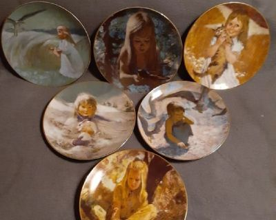 Precious Moments 1980 Plate Sets of 6