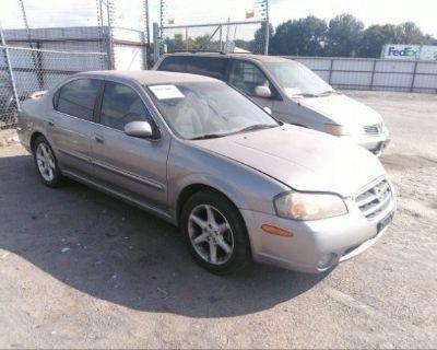 Salvage Gray 2002 Nissan Maxima