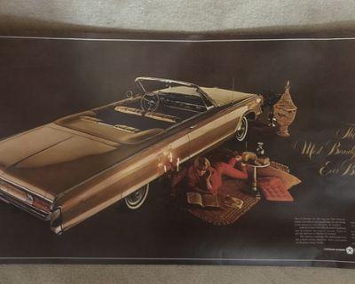 Vintage 1965 Chrysler Advertising Poster