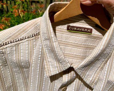 Cubavera XL Seersucker Mens Shirt