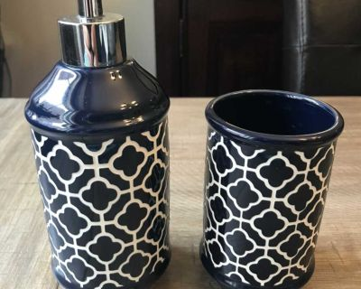 Soap and tooth brush holder