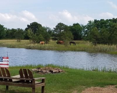 Cozy 2 rm pet friendly cabin- private lake - fishing & swimming - CowboyCabin - Antlers