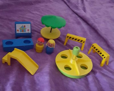 Vintage Fisher Price Family School and Playground Toys