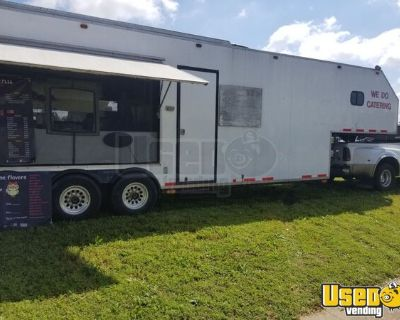 2007 - 8' x 38' Kitchen Concession Trailer with Bathroom and Living Quarters