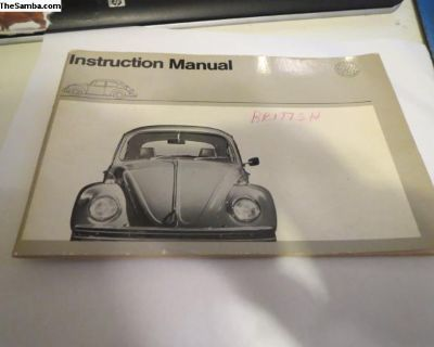 NOS British 1972 Model Owners Manual Dated 8/71