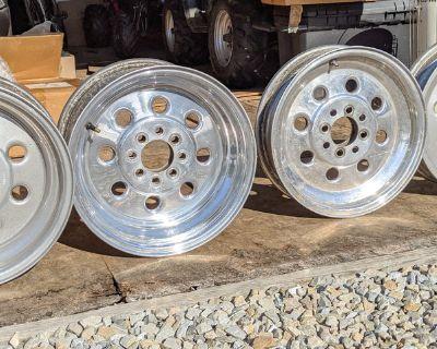"""Weld Racing Draglite 15"""" Wheels 4 Lug Set Mustang"""
