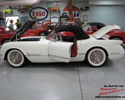 1953 Chevrolet Corvette Polo White / Red Interior Duntov