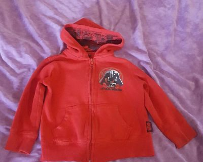 """Star Wars Darth Vader """"The Force Is Strong With This One"""" Hoodie Size 3T"""