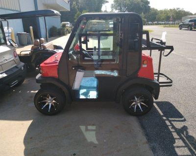 Golf cart with real air conditioning heat radio and more