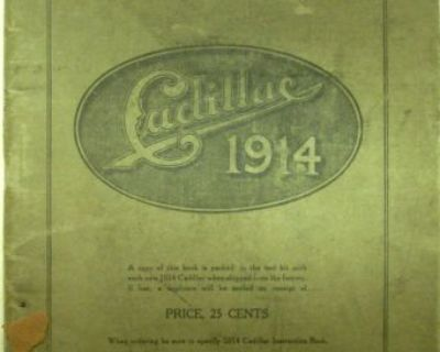 1914 Cadillac Owner's Manual Care And Operation Original 14 All Models Service