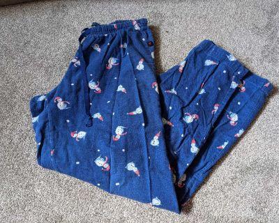 Snowman pajama pants size small