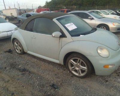 Salvage Blue 2004 Volkswagen New Beetle Convertible