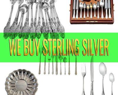 WE BUY STERLING SILVER