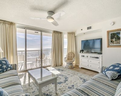 Clean Oceanfront Condo, Tile and Hardwood Floors, Pool | Crescent Shores - S 406 - Crescent Beach