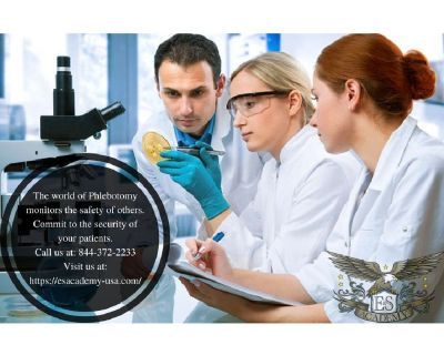 Gain a distinct career advantage when you enroll in the E&S Academy Phlebotomy Class.