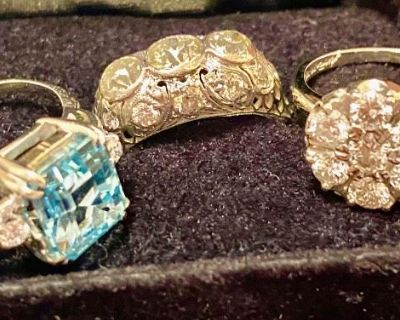 Platinum, Gold, Diamond Jewelry, 2002 Buick Century Sedan, Furniture, Tools & Glassware