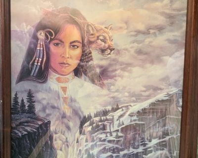 Framed Native American Woman picture 1991