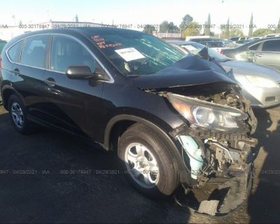Salvage Black 2013 Honda Cr-v