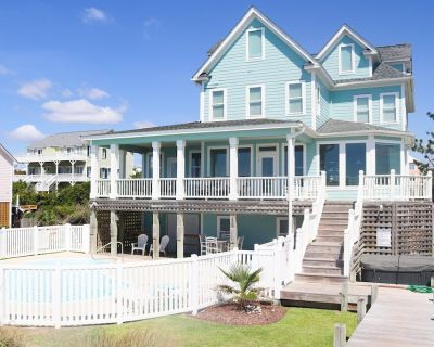 Views in every room, hot tub basically on the dunes! Private Pool! - Emerald Isle