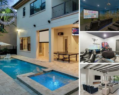 Be Our Guest Manor | 6,300 sq. ft. Villa, Luxurious Furnishings, Movie Room, Kids Bedroom - Reunion