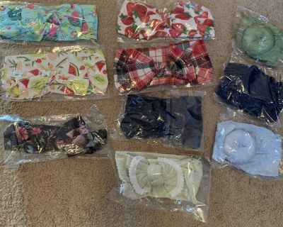 Never worn baby head wraps $20 for all