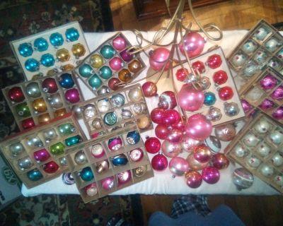 Shiny Bright Vintage Mercury Christmas bulbs