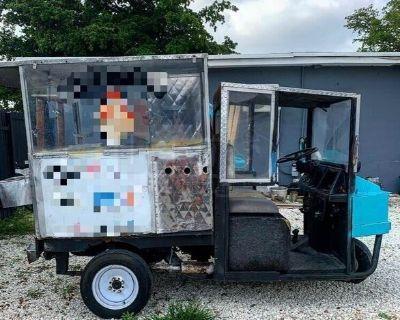 Used 1984 Cushman Street Food Vending Mini Truck Hot Dog Cart