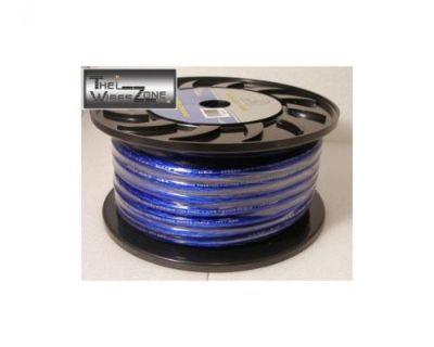 Bullz Audio Bpp4.80bl High Performance Blue 4 Gauge 80' Feet Power Cable Wire