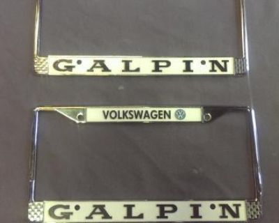 Volkswagon Galpin License plate frames
