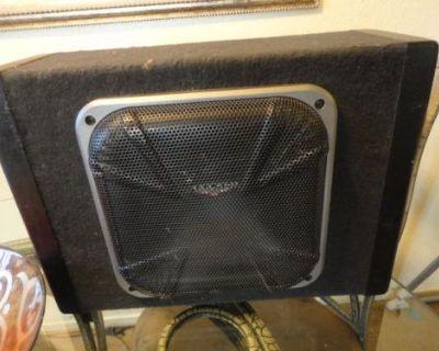 08-10 Dodge Caliber Kicker Subwoofer Enclosure 05035045aa - Speaker,chrysler,amp