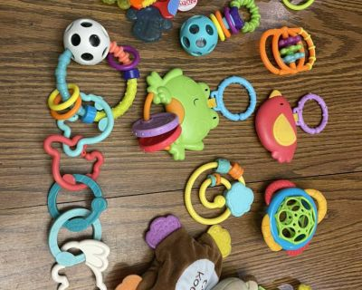 Baby teether, rattles, and toys