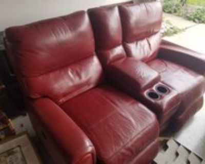 Red Leather double electric recliner