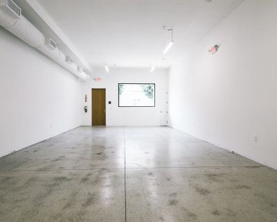 Industrial White Box Creative Space in Melrose Hill, Los Angeles, CA