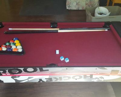 Small Pool and Air Hockey Table