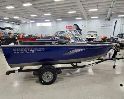 2021 Crestliner 1650 FISH HAWK SE WT Aluminum Fish Boats Kaukauna, WI