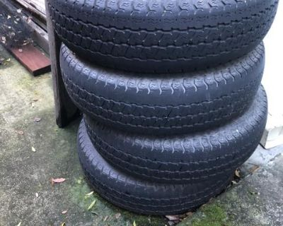 4 stock wheels with tires from 86 vanagon