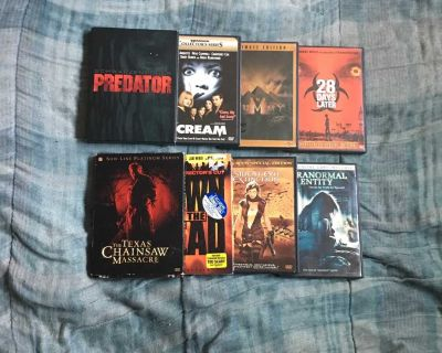 Lot Of 8 Horror Movie DVDs