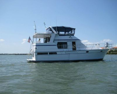 1989 TransWorld Del Rey 43 Sundeck Trawler