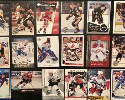 NHL superstars / HOFers hockey card lot - incl. Crosby, Lemieux, Brodeur RC etc.