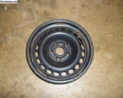 "15""x6.5"" Steel rim / wheel with lugnuts."