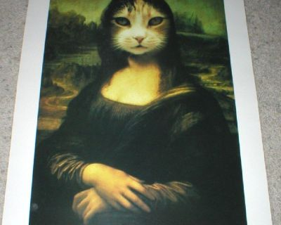 Mona the Cat Photographic Wall Art Poster No. 1637 - Unframed