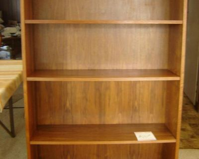 2 wood bookcases. quality.